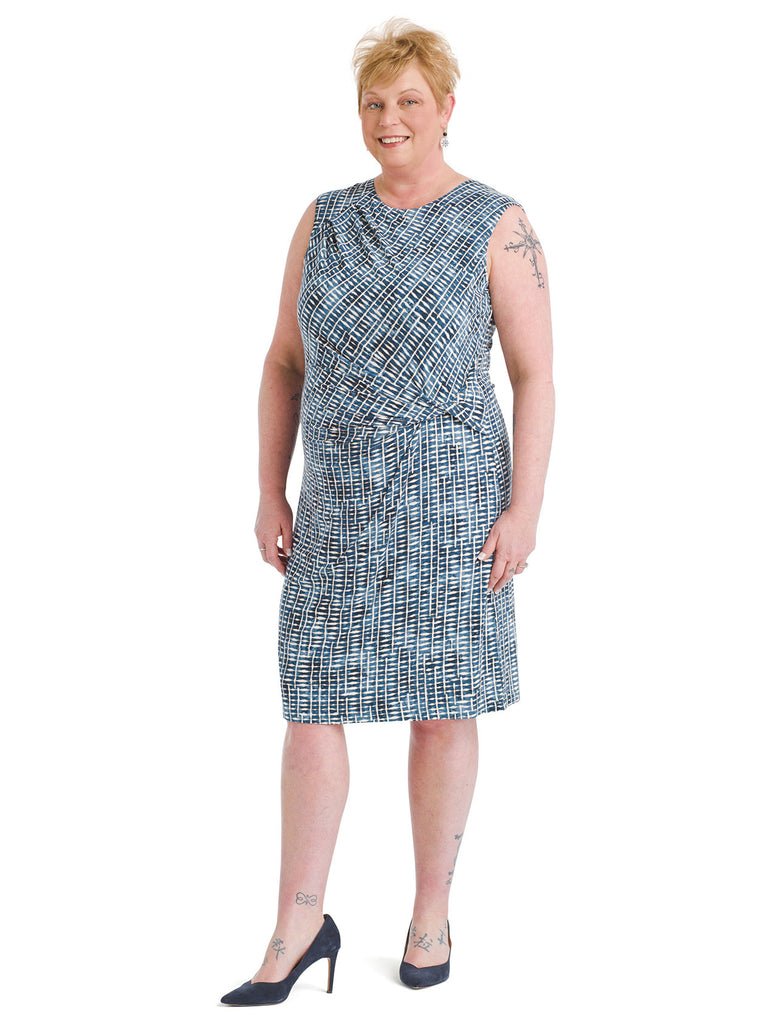 Lattice Side Twist Dress