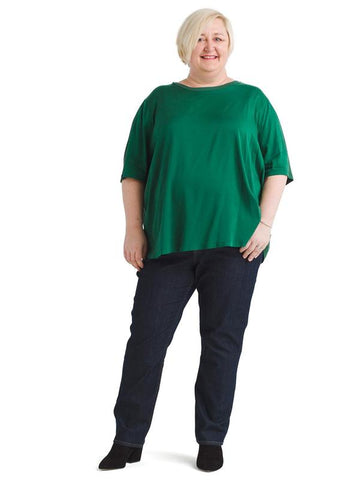 Arvo Cupro Kelly Green Mix Tee
