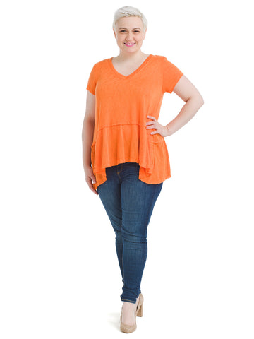 Sharkbite Hem Orange Top