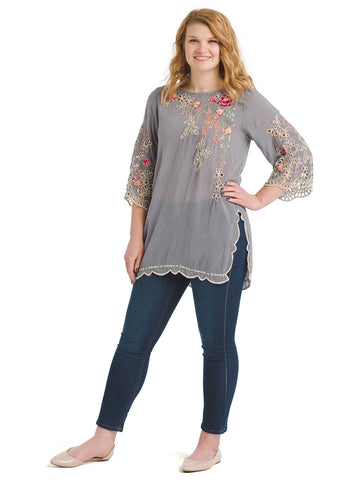 Floral Embroidery Belina Tunic
