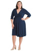 Navy Say Yes to Timeless True Wrap Dress