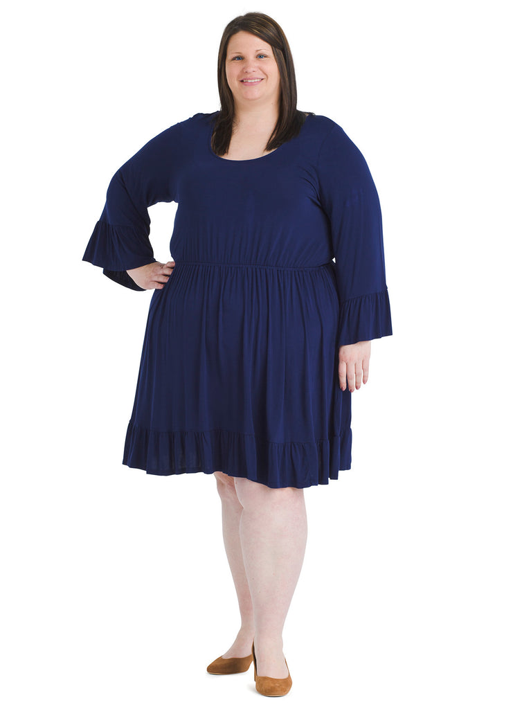Navy Build Upon Brilliance Fit and Flare Dress