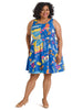 Optimistic Effect Travel Print Dress