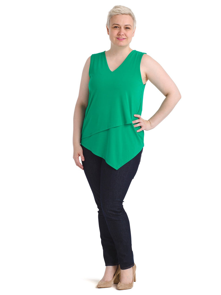 Golf Green Asymmetrical Top