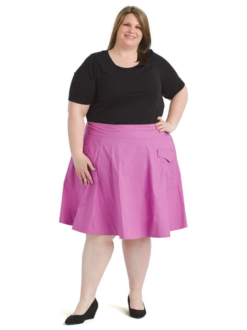 Front Pocket Pink Skirt