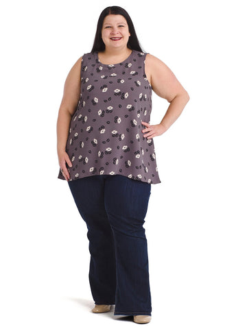 Rose Hi-Lo Tunic Top