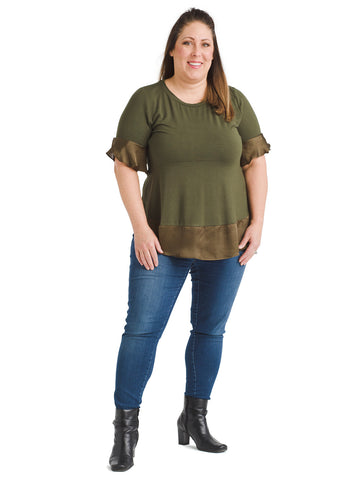 Short Sleeve Army Green Top