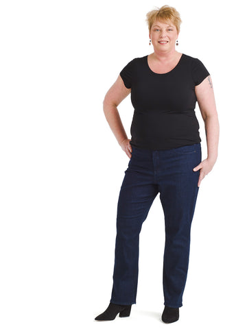 Rinse Wash Marilyn Straight Jeans