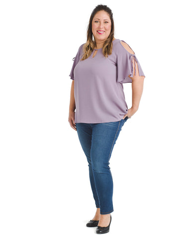 Cold Shoulder Lilac Top