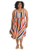 Freedom Stripe Wrap Dress