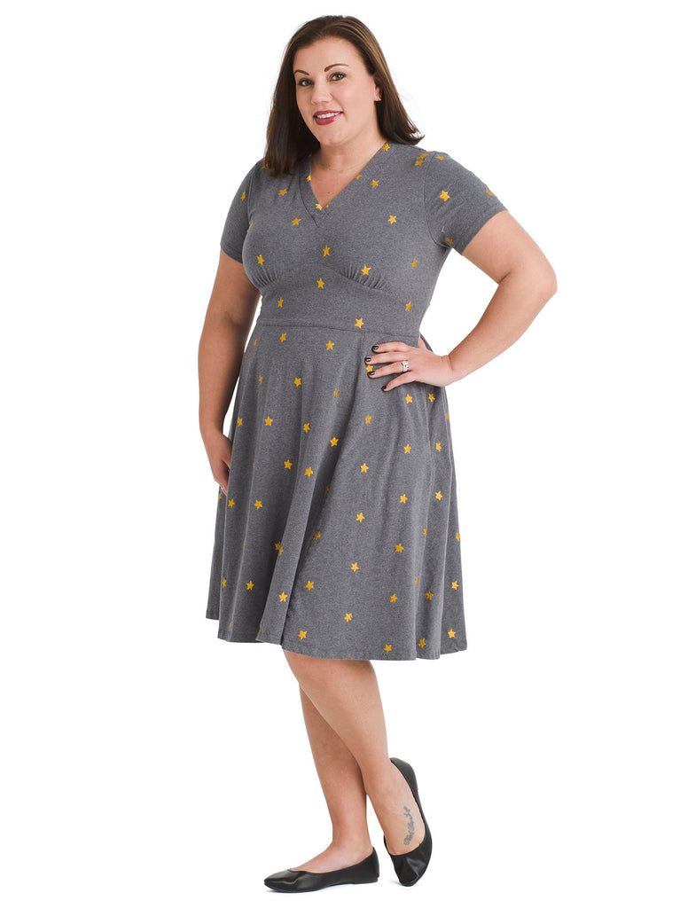 Star Fit And Flare Dress