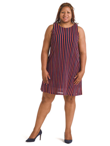 Knit Stripe Shift Dress