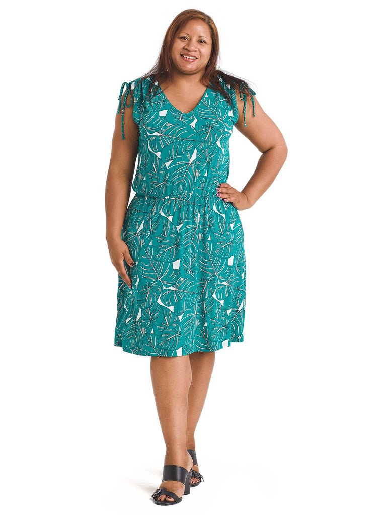 Jersey Green Rainforest Tara Dress