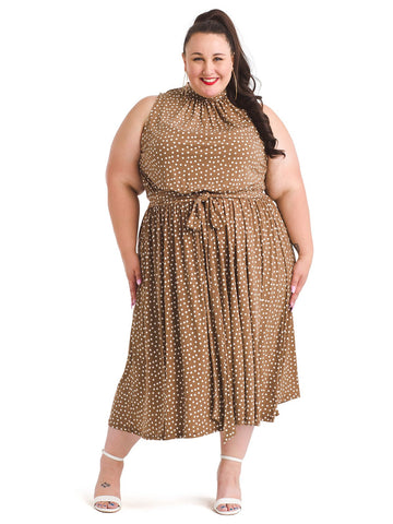 Chocolate Chip Confetti Dot Mindy Dress