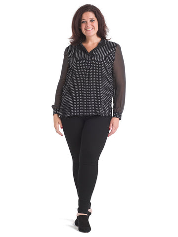 Mixed Dot Poet Top