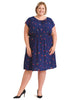 Cherry Print Navy Fit And Flare Dress