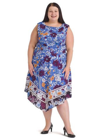 Botanical Border Fit and Flare Dress