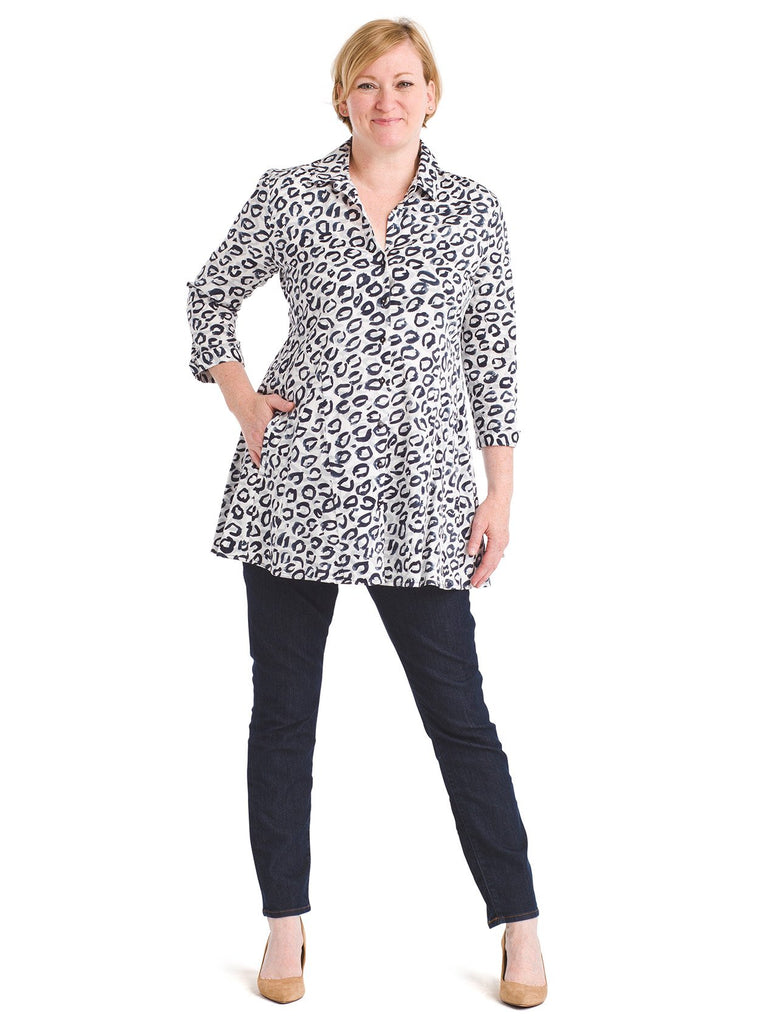 Princess Seam Leopard Kisses Tunic Shirt