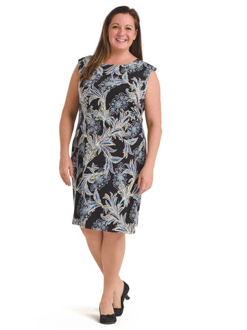 Sketch Floral Sheath Dress