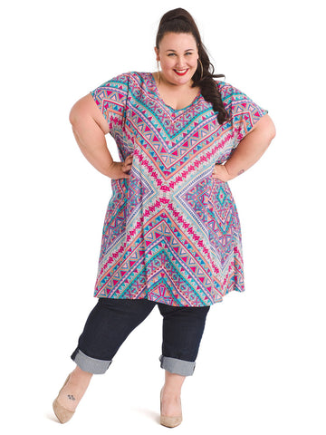 Multi Color Trinity Tunic
