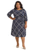 Plaid Jersey Midi Dress