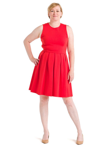 Bow Back Tomato Red Dress