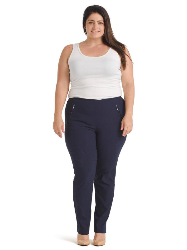 Ankle Navy Alexa Slim Pull-On Pants