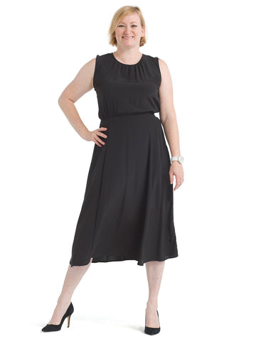 Black Francis Midi Dress