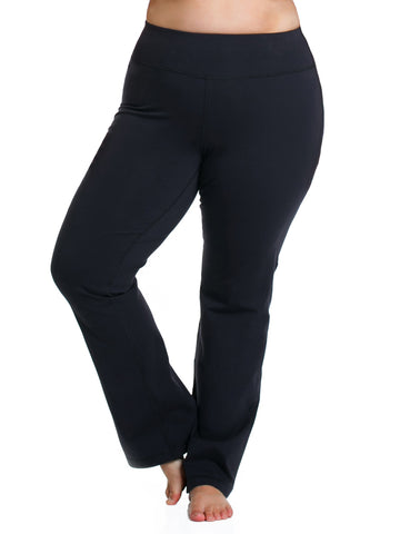 Basix Straight Leg Pant In Black