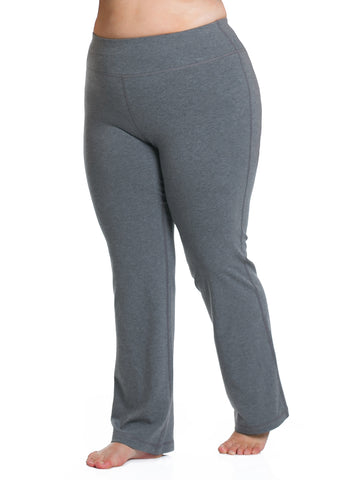 Basix Straight Leg Pant In Charcoal Grey