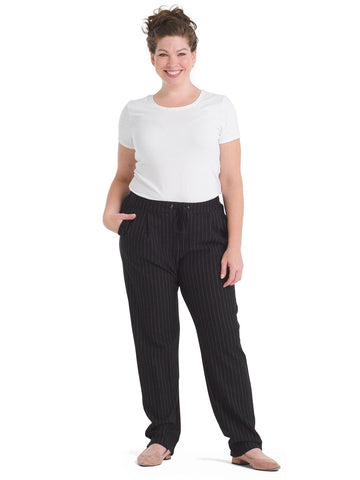 Pinstripe Ponte Pull-On Pants
