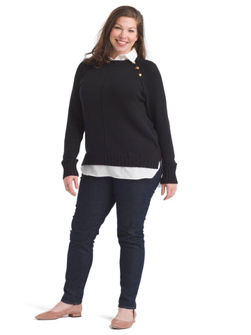Black And White Twofer Sweater