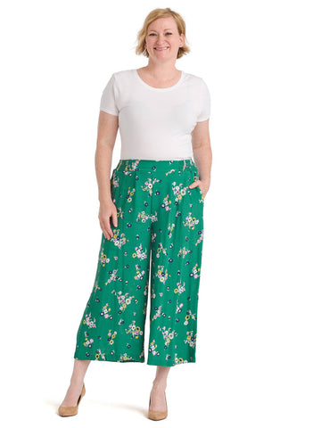 Green Floral Pants