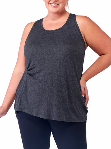 Potrero Tunic Tank In Charcoal Heather