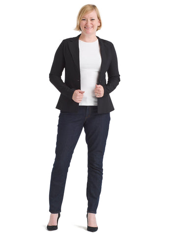 Black Single-Button Blazer