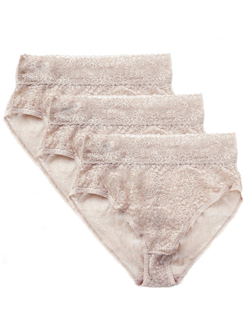 Lace Brief 3 Pack In Nude