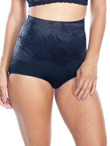 Jacquard Smoothing Brief In Black