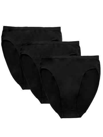 Seamless Brief 3 Pack In Black
