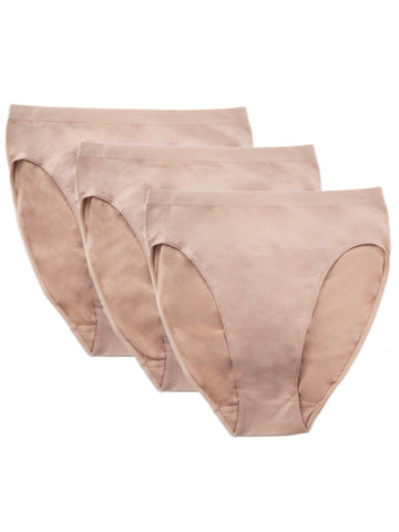 Seamless Brief 3 Pack In Nude