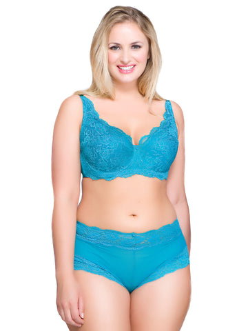 Kelly Lace and Underwire Bra In Deep Sea