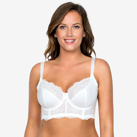 Elissa Unlined Wire Bralette In Pearl White