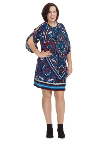 Split Sleeve Paisley Dress