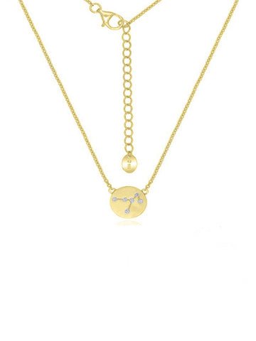 Golden Constellation Disc Necklace