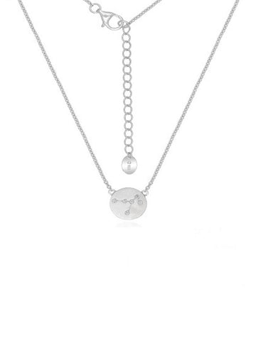 Silver Constellation Disc Necklace
