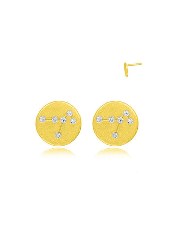 Golden Constellation Disc Earrings
