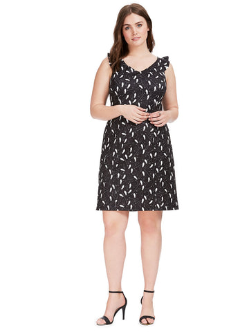 Reiss Dress In Dancing Feet Print