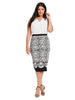Fitted Jacquard Sweater Skirt