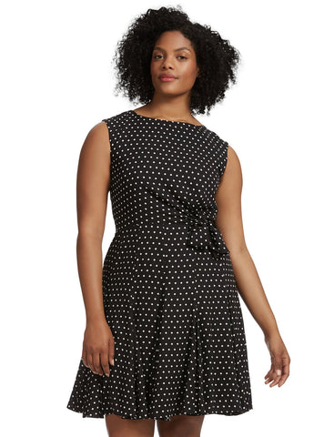 Polka Dot Side Tie Dress