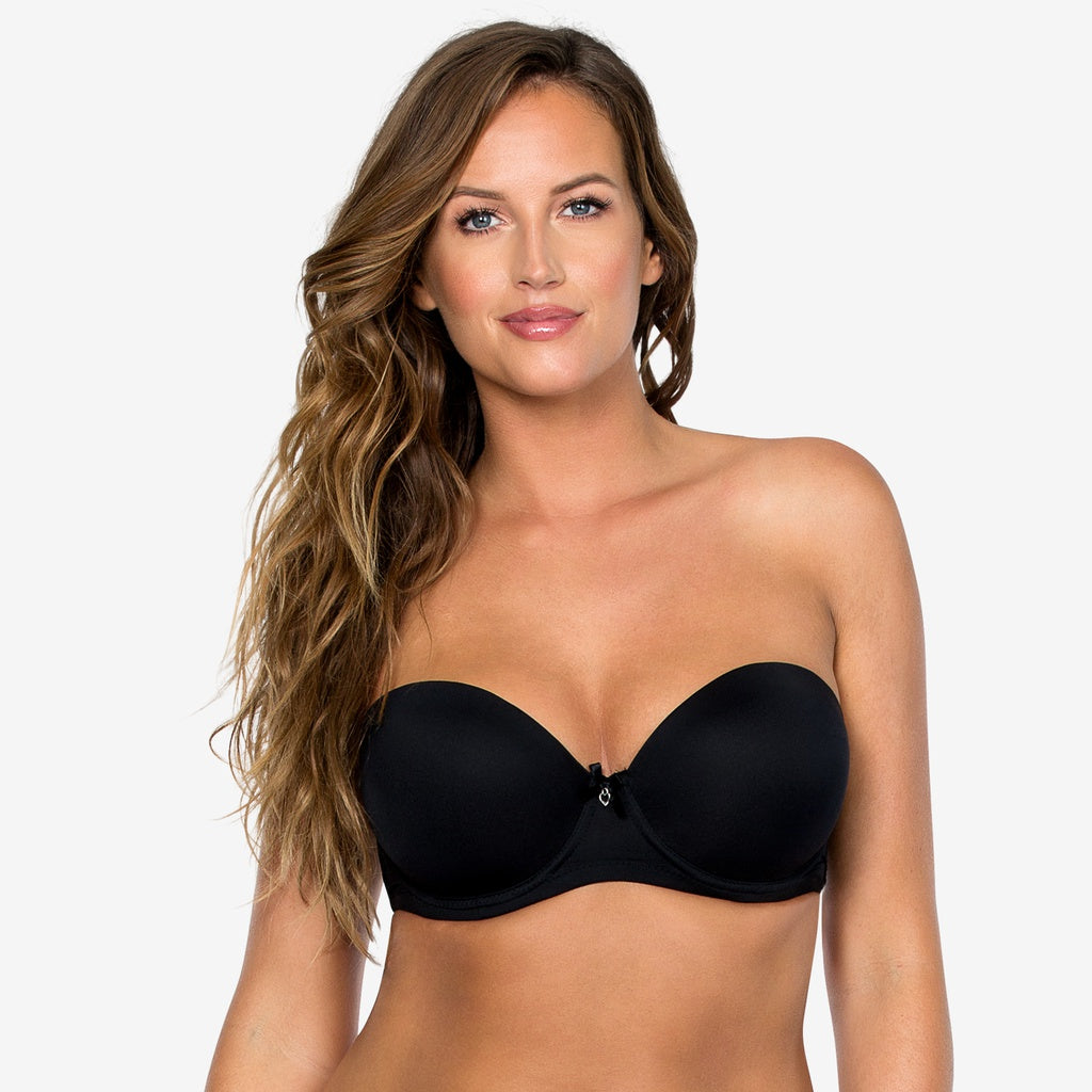 Jeanie Strapless Contour Bra In Black
