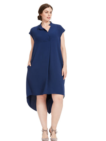 Harper Dress in Navy